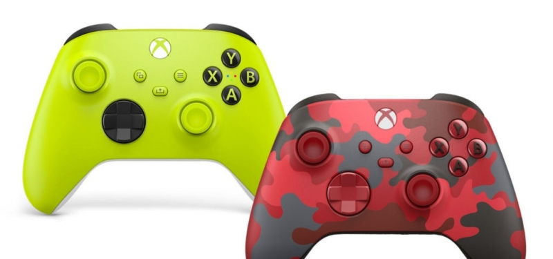 Два новых геймпада Xbox Series: «Electric Volt» и «Daystrike Camo».
