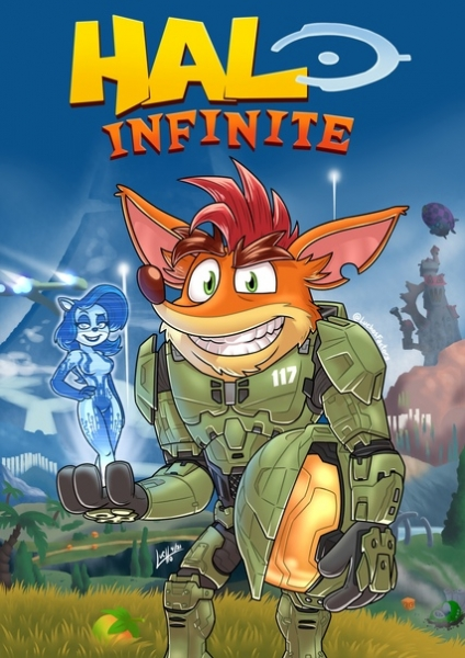 Halo Infinite X Crash Bandicoot