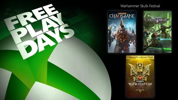 На Xbox One и Xbox Series X|S проходят дни бесплатной игры в Warhammer 40,000: Inquisitor — Martyr, Warhammer: Chaosbane и Warhammer 40,000: Mechanicus для пользователей со статусом Gold и обладателей подписки Xbox Game Pass Ultimate. Все игры также можно приобрести со скидками: