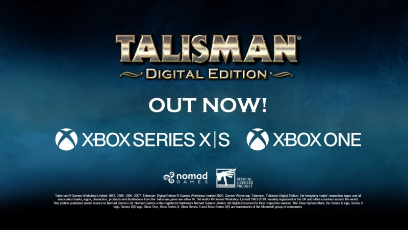 Talisman: Digital Edition Is Now Available For Xbox One And Xbox Series X|S