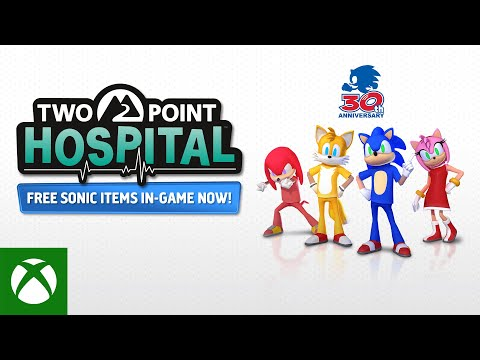 Sonic joins Two Point Hospital — Free DLC out now!