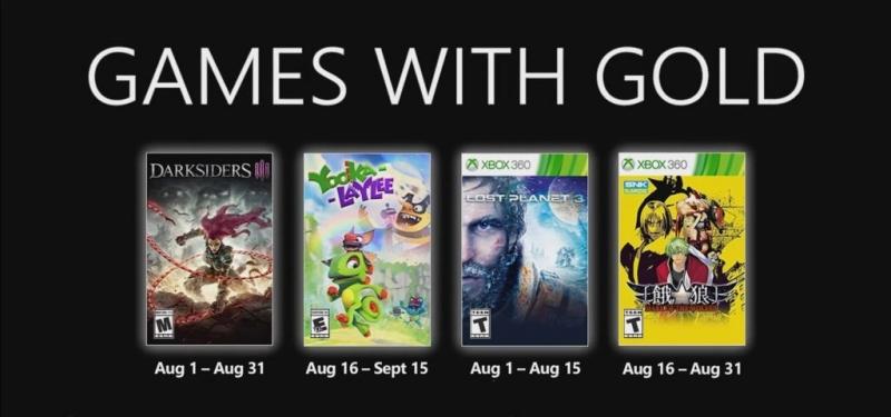 Бесплатные игры августа для подписчиков Xbox Live Gold