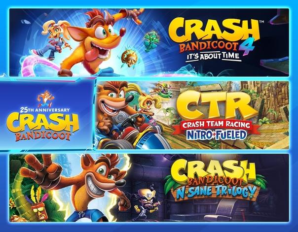 Скидка на игру Xbox До конца этого дня (22:59 МСК) в Microsoft Store можно приобрести некоторые игры (бандлы) с Крэшем Бандикутом по неплохой скидке.