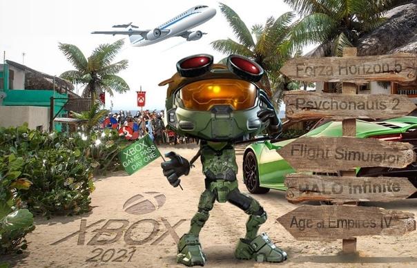 Игры от Xbox Game Studios 2021 года на одной картинке
