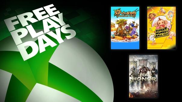 На Xbox One и Xbox Series X|S проходят дни бесплатной игры в FOR HONOR, The Survivalists и Super Monkey Ball: Banana Blitz HD для пользователей со статусом Gold и обладателей подписки Xbox Game Pass Ultimate. Все игры также можно приобрести со скидками: