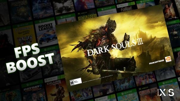 Скидка на игру Xbox Вчера Dark Souls 3 получила поддержку технологии FPS Boost на консолях Xbox Series X S.