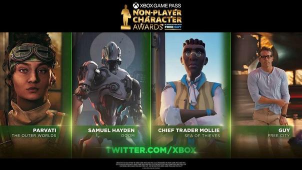 Xbox и фильм «Главный герой» 20th Century Studios представляют премию Non-Player Character Awards.
