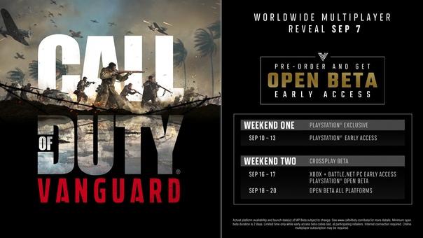 Скидка на игру Xbox Открытый бета-тест Call of Duty: Vanguard на консолях Xbox пройдёт с 18 по 20 сентября.