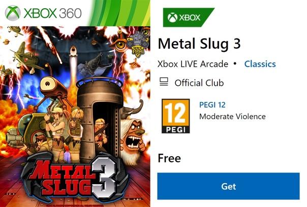 Скидка на игру Xbox В Microsoft Store сейчас можно бесплатно получить игру Metal Slug 3.