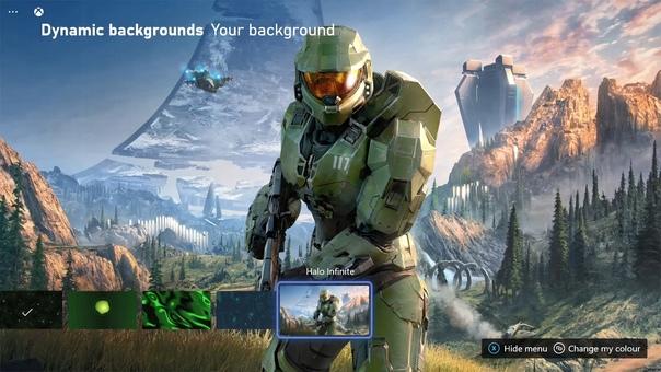 Владельцам Xbox Series стал доступен новый динамический фон в стиле Halo Infinite