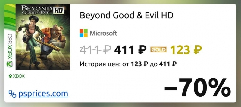 Скидка на игру Xbox Beyond Good & Evil HD