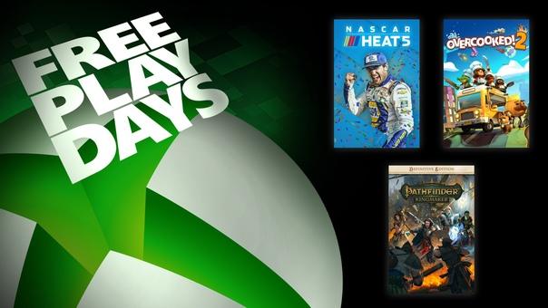 На Xbox One и Xbox Series X|S проходят дни бесплатной игры в Pathfinder: Kingmaker — Definitive Edition, NASCAR Heat 5 и Overcooked! All You Can Eat для пользователей со статусом Gold и обладателей подписки Xbox Game Pass Ultimate:
