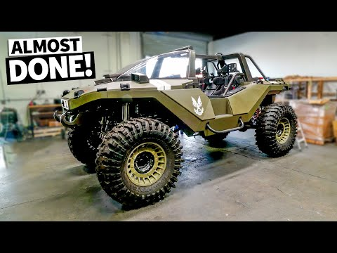Our REAL LIFE HALO WARTHOG gets painted! 1 of 1 windshield, hood & basically everything gets dialed!