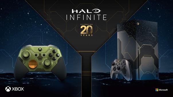 Скидка на игру Xbox 15 октября (10:00 МСК) стартуют предзаказы лимитированных консоли Xbox Series X Halo Infinite Limited Edition и геймпада Halo Infinite Limited Edition Elite Series 2.
