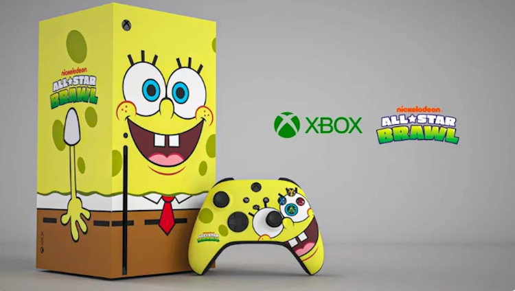 Microsoft представила консоли Xbox Series X в виде Губки Боба и Леонардо из Черепашек-ниндзя