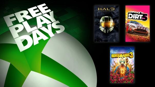 На Xbox One и Xbox Series X|S проходят дни бесплатной игры в Halo: Коллекция Мастера Чифа, DIRT 5 и Borderlands 3 для пользователей со статусом Gold и обладателей подписки Xbox Game Pass Ultimate: